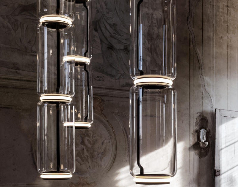Noctambule LED Dimmable Pendant Light Tall Cylinders