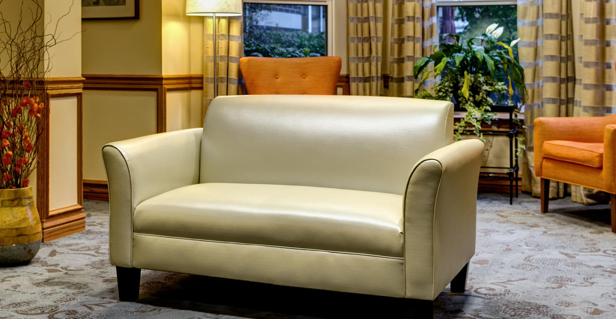 The polycarbonate resins provide a strong and durable faux leather product that can be used in healthcare settings