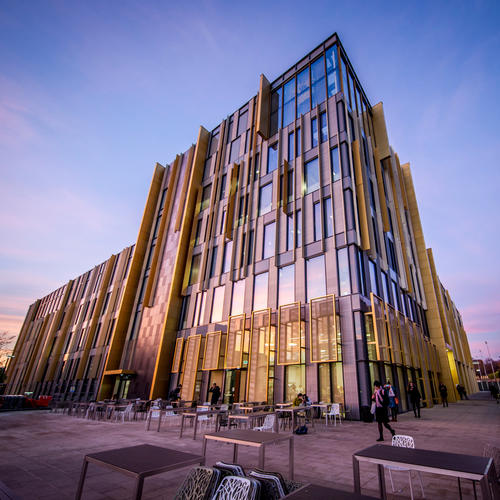 Opened in Sept. 2016, the library's prominent glazing, supplemented with SEFAR's Vision fabric interlayer, contributed to credits for BREEAM, the UK's sustainability assessment method for masterplanning projects, infrastructure and buildings.