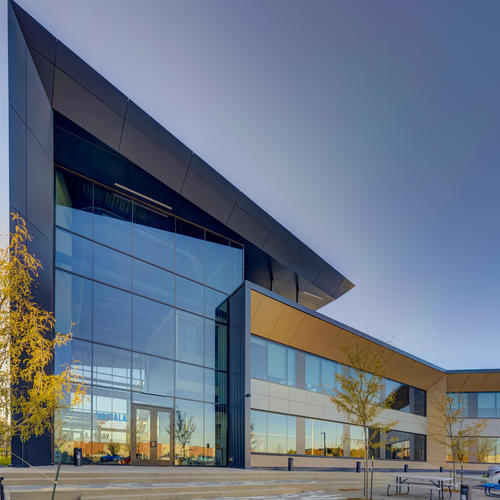 Scandinavian-inspired style and net-zero-ready design for the Finnish company Vaisala's new North American headquarters, Louisville, Colo.