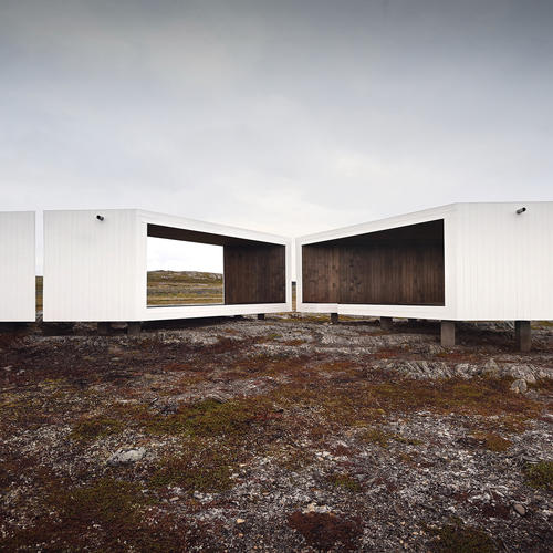 The Domen Viewpoint allows tourists unparalleled views overlooking the Barents Sea, Norway