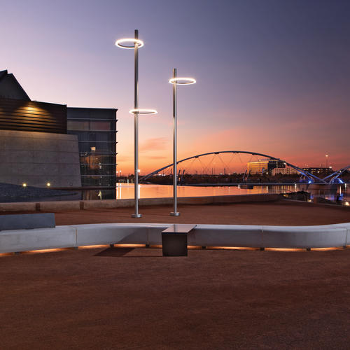 Plaza of the Tempe Centerfor the Arts, Tempe, Ariz. by design teams at Landscape Forms and Designworks